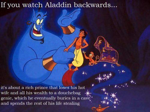 Если смотреть задом наперед Алладин