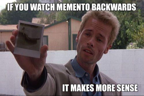 Если смотреть задом наперед Память (Memento)