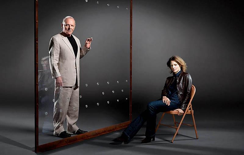 Энтони Хопкинс и Джоди Фостер – «Молчание ягнят».