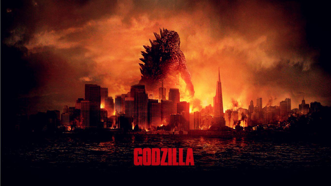 Постер фильма Годзилла 2014 года