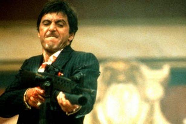 Аль Пачино Al Pacino Лицо со шрамом