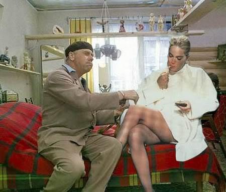 Голливудские актеры в советском кино Шерон Стоун Бриллиантовая рука