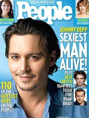 Джонни Депп Sexiest Man Alive 2009
