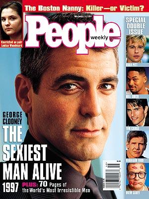 Sexiest Man Alive 1997 George Clooney