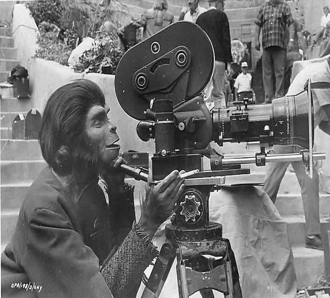 За кадром фильма Планета обезьян
