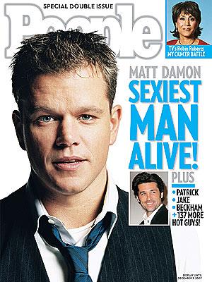 Мэтт Дэймон Sexiest Man Alive 2007