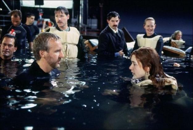 На съемках Титаника Джеймс Кэмерон и Кейт Уинслет