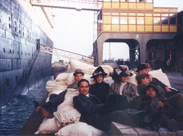 На съемках Титаника