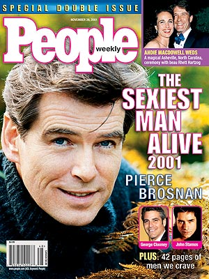 Пирс Броснан Sexiest Man Alive 2001