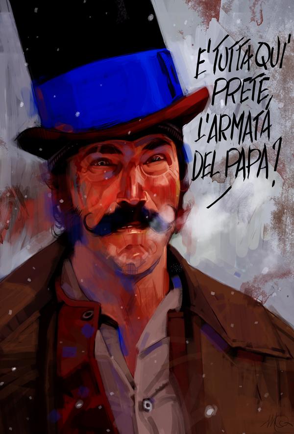 Рисунки Массимо Карневале Банды Нью-Йорка Дэниэл Дэй Льюис