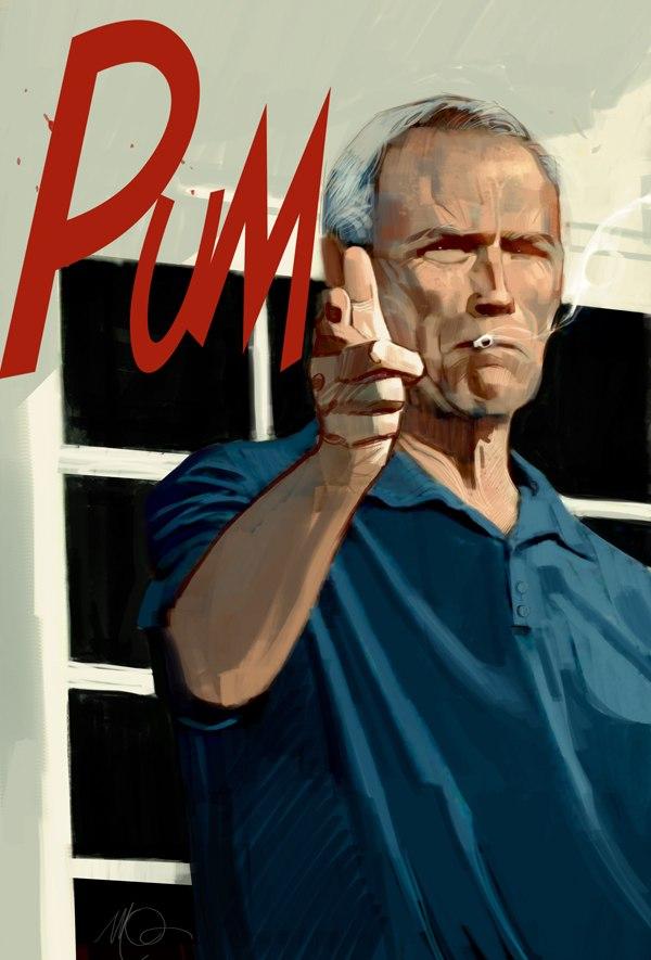 Рисунки Массимо Карневале Гран Торино Клинт Иствуд