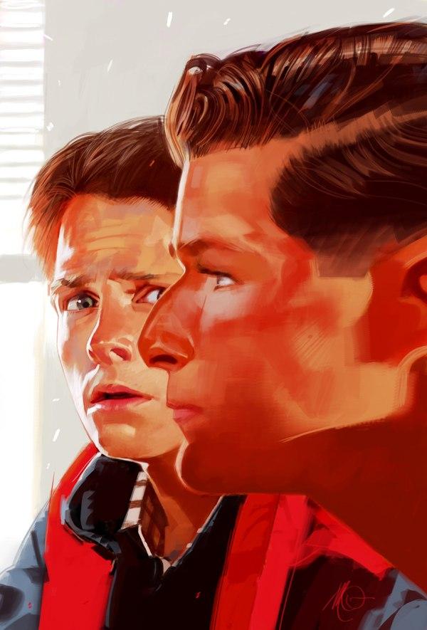 Рисунки Массимо Карневале Назад в будущее Майкл Джей Фокс