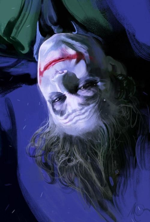 Рисунки Массимо Карневале Тёмный рыцарь Джокер Хит Леджер