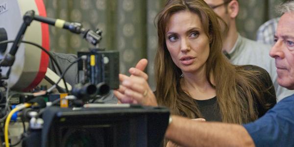 Режиссер Анджелина Джоли на съемках Несломленного