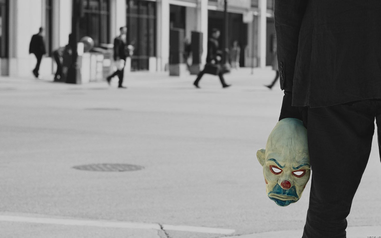 Хит Леджер Темный рыцарь Джокер первая сцена маска