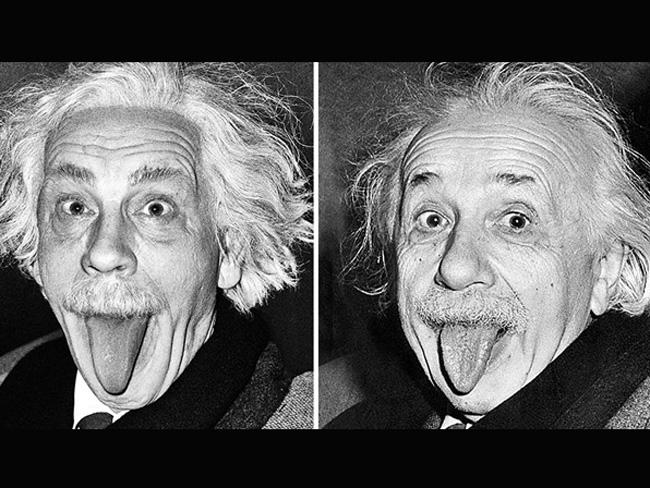 Джон Малкович в образе знаменитых фотографий Альберт Эйнштейн