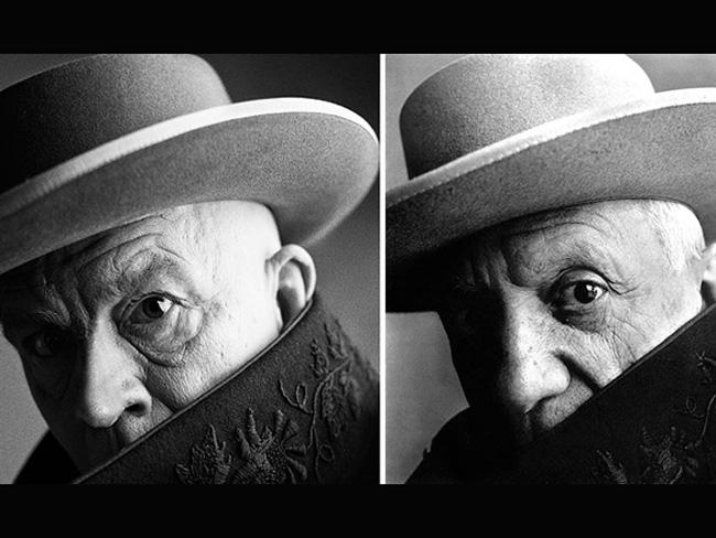 Джон Малкович в образе знаменитых фотографий Пабло Пикассо