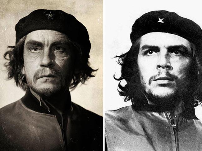 Джон Малкович в образе знаменитых фотографий Че Гевара