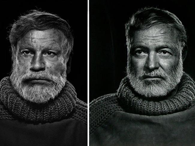 Джон Малкович в образе знаменитых фотографий Эрнест Хэмингуэй