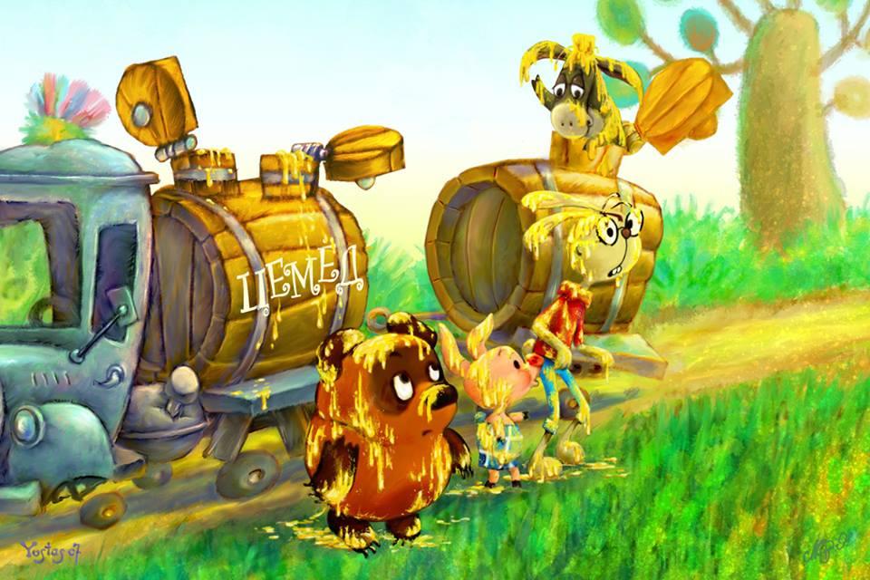 Старые мультфильмы на новый лад Винни Пух Джентльмены удачи