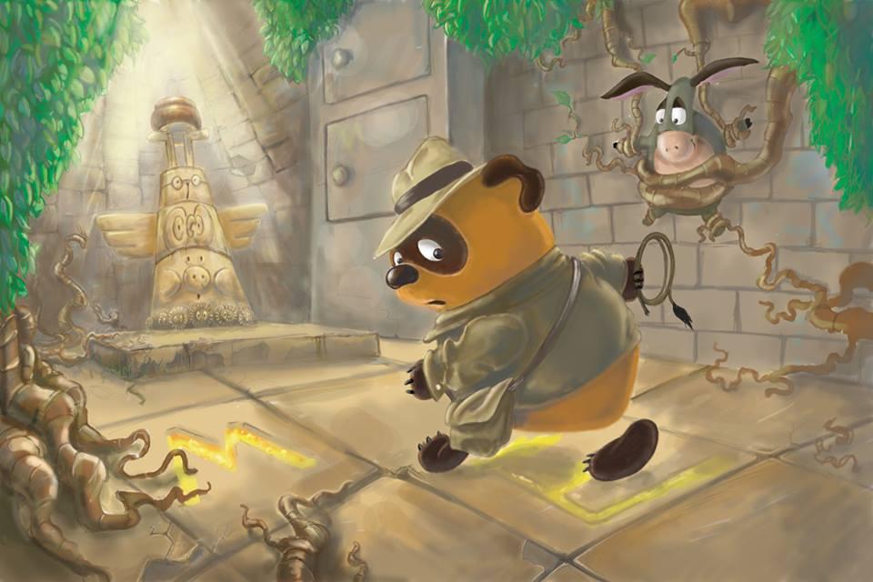 Старые мультфильмы на новый лад Винни Пух Индиана Джонс