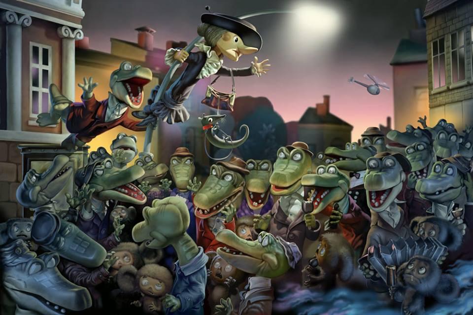 Старые мультфильмы на новый лад Крокодил Гена Шапокляк Матрица