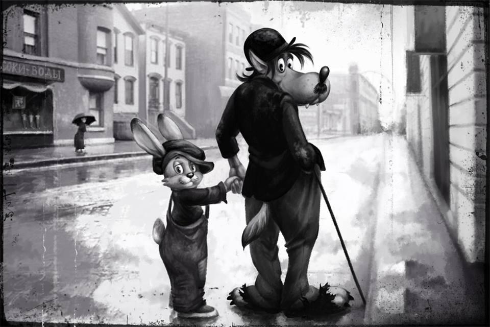 Старые мультфильмы на новый лад Ну погоди Огни большого города