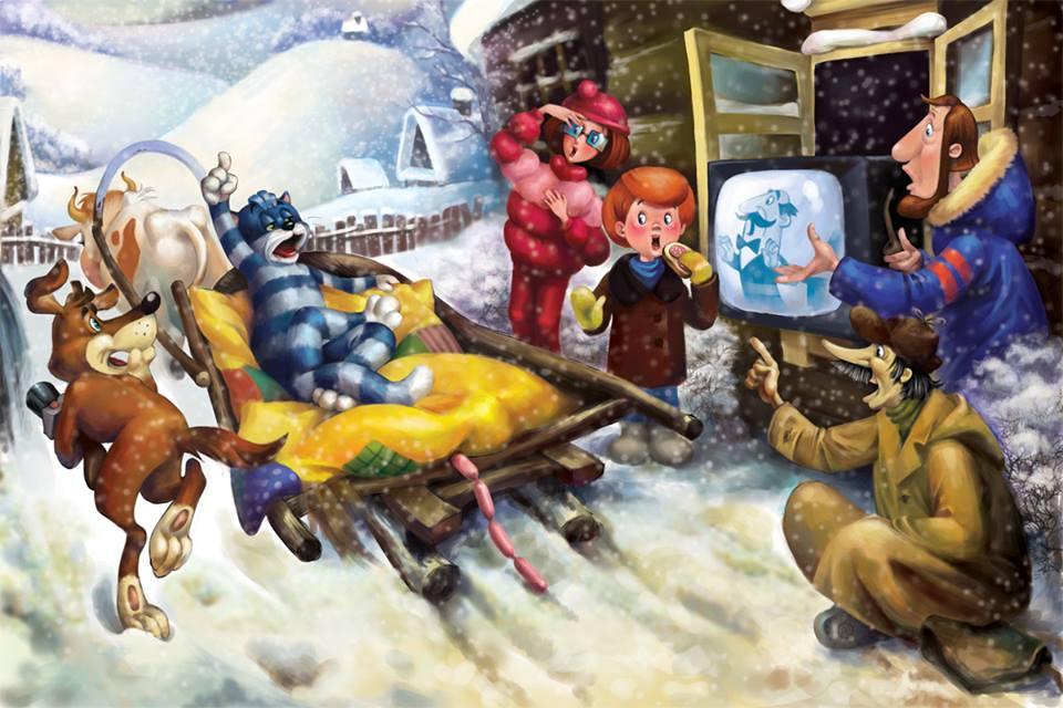 Старые мультфильмы на новый лад Простоквашино Боярыня Морозова