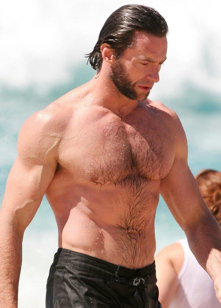 Хью Джекману 46 лет тело на пляже