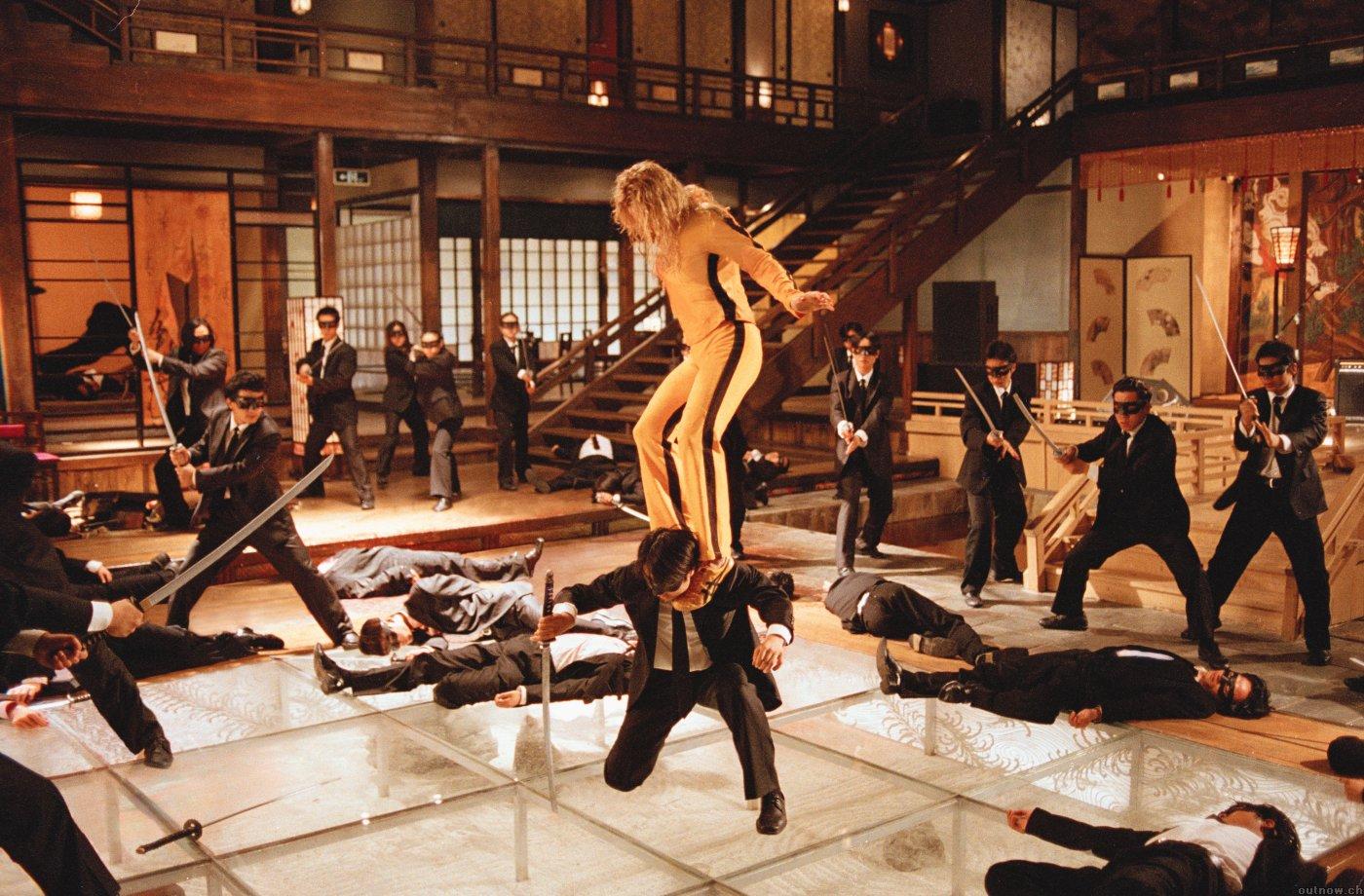 Все фильмы Квентина Тарантино Убить Билла сцена боя на мечах