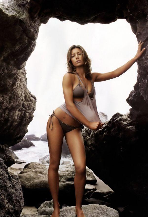 Джессика Бил мокрая майка фото Jessica Biel photo bikini