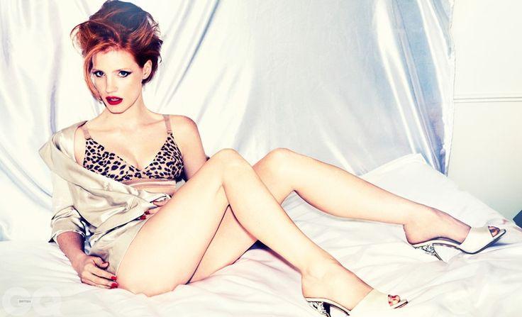 Джессика Честейн фото белье Jessica Chastain photo underwear legs