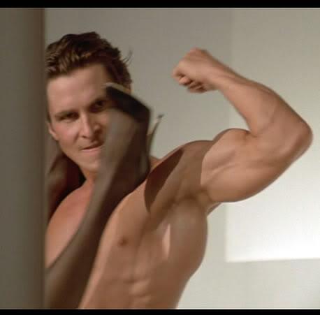 Кристиан Бэйл Christian Bale Американский психопат секс American psycho sex scene