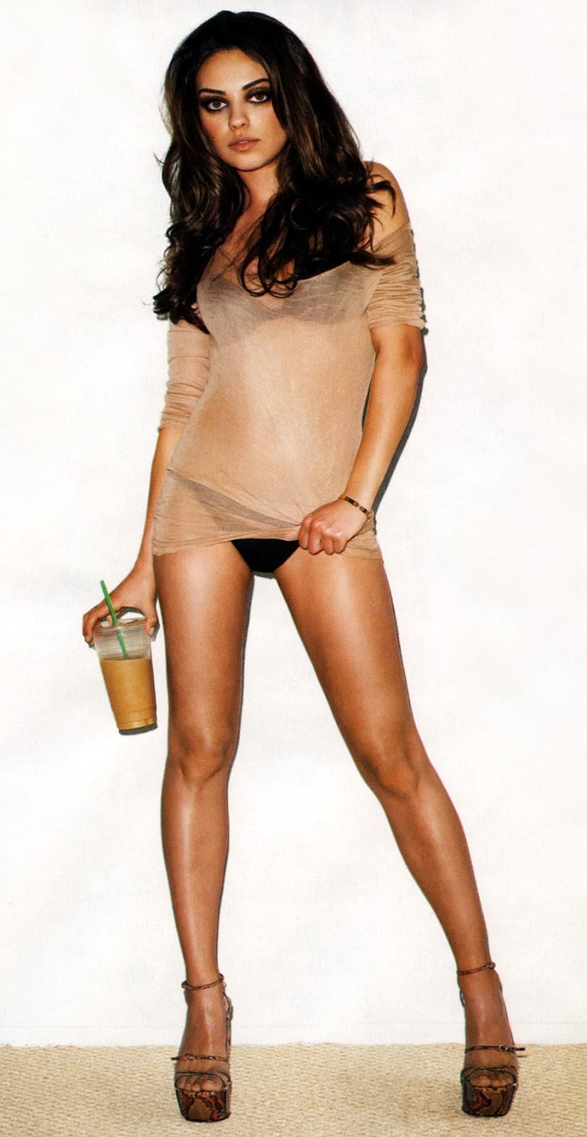 Мила Кунис белье ноги Mila Kunis underwear legs sexy