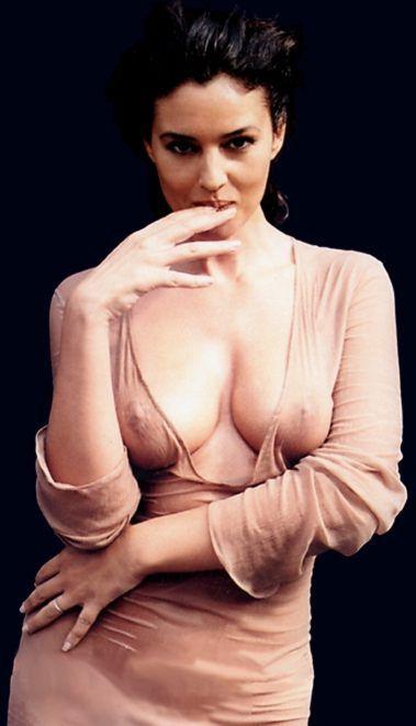 Моника Белуччи фото грудь Monica Belucci photo see-through