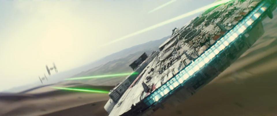 Первые кадры новых Звездных войн Тысячелетний сокол