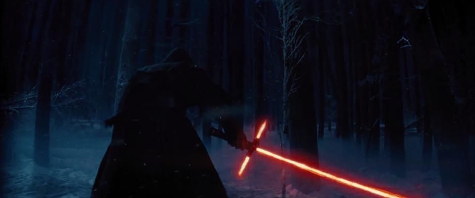 Первые кадры новых Звездных войн световой меч в форме креста