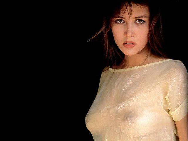 Софи Марсо фото грудь Sophie Marceau photo see-through