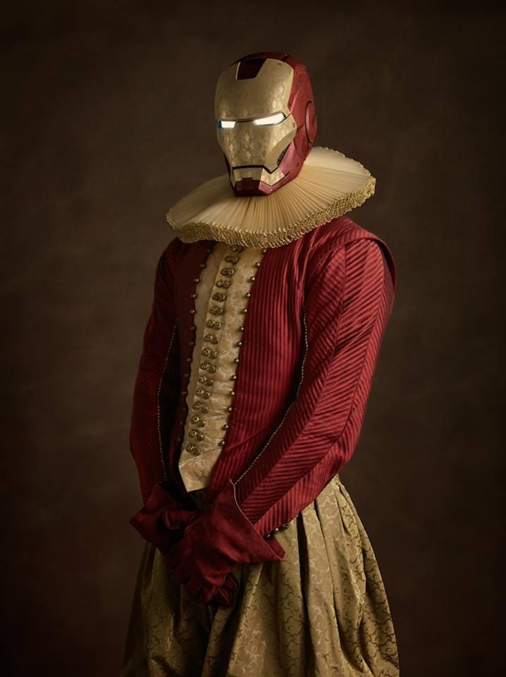 Супергерои в костюмах эпохи ренессанс Железный человек