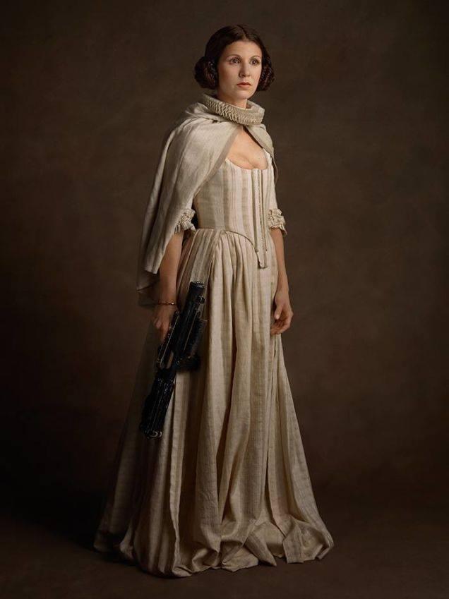 Супергерои в костюмах эпохи ренессанс Принцесса Лея