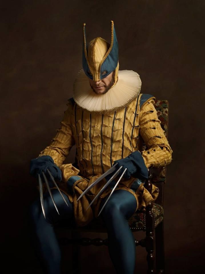 Супергерои в костюмах эпохи ренессанс Росомаха