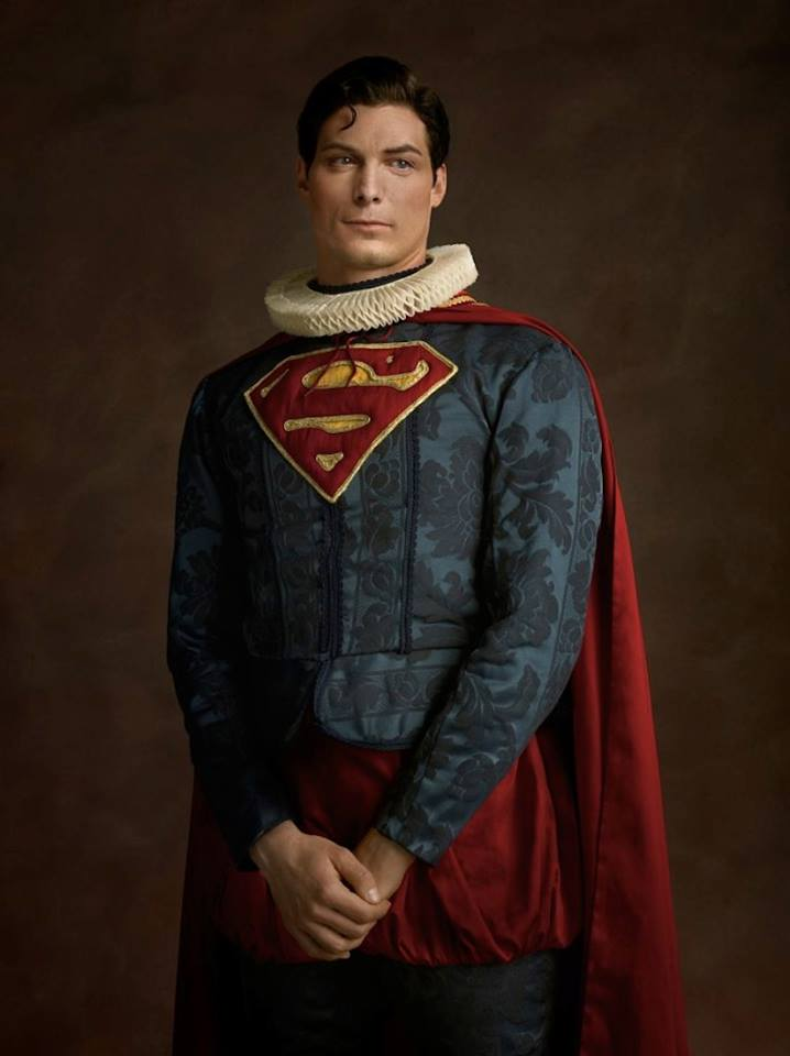 Супергерои в костюмах эпохи ренессанс Супермен