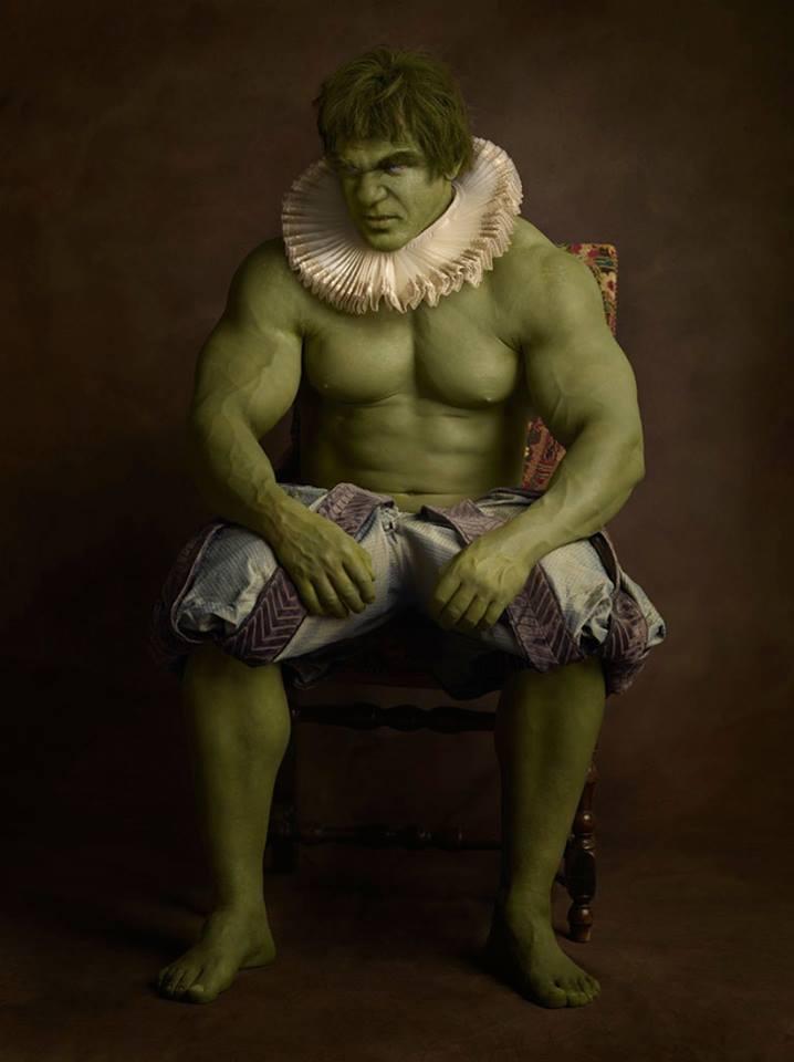 Супергерои в костюмах эпохи ренессанс Халк