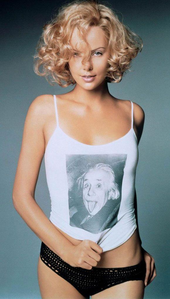 Шарлиз Терон фото белье Эйнштейн Charlize Theron photo lingerie Einstein