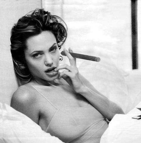 Анджелина Джоли фото сигара  Angelina Joile photo cigar