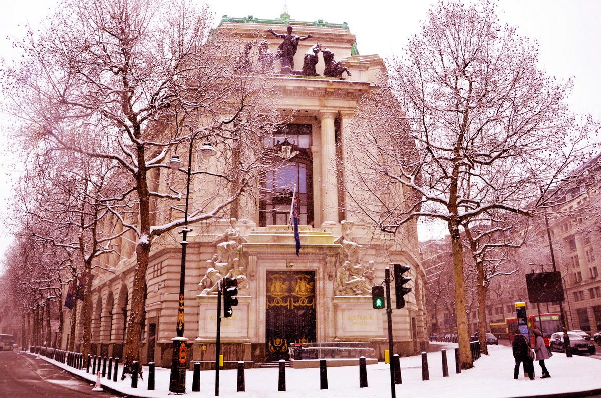 Где снимали Гарри Поттера Банк Гринготтс Австралия Хаус зимой