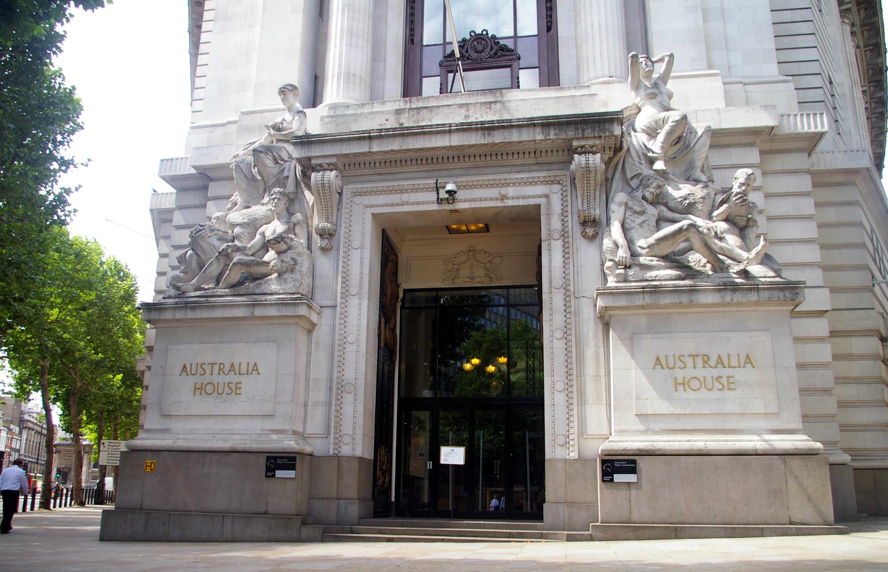 Где снимали Гарри Поттера Банк Гринготтс Gringotts Wizarding Bank Australia House