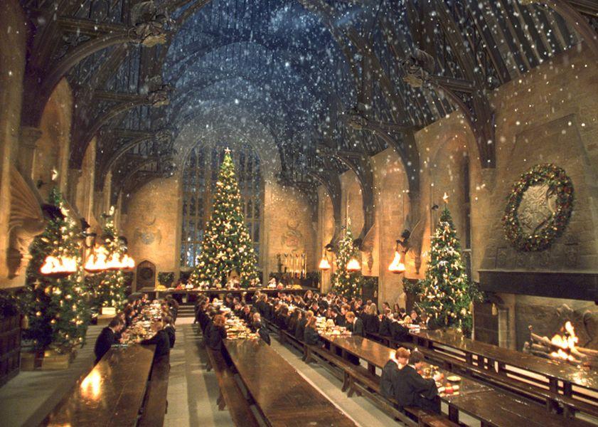 Где снимали Гарри Поттера Большой зал Хогвартса Новый год