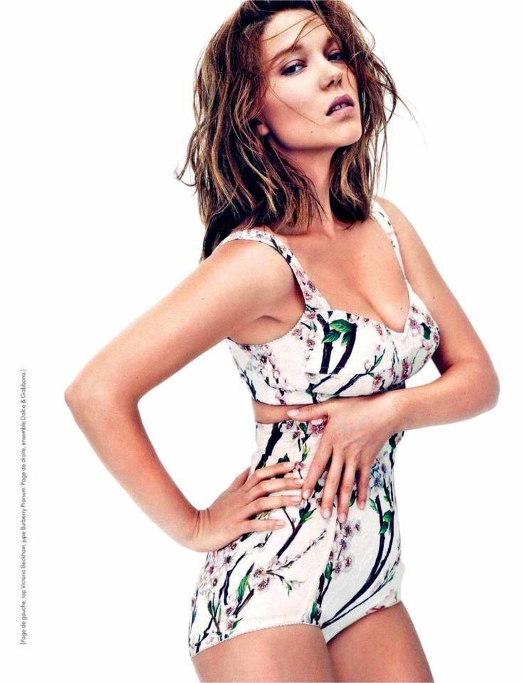 Леа Сейду фото белье Léa Seydoux photo lingerie