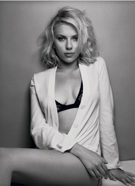 Скарлетт Йоханссон фото белье Scarlett Johansson photo black and white lingerie
